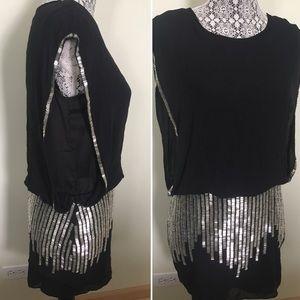 Dresses & Skirts - Silver sequins black evening dress